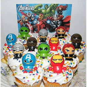 Marvel Avengers Super Hero Deluxe Cupcake Toppers-Kitchen - www.Gifteee.com - Cool Gifts \ Unique Gifts - The Best Gifts for Men, Women and Kids of All Ages
