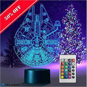 Star Wars Millennium Falcon Lamp - Find the newest innovations, cool gadgets to use at home, at the office or when traveling. amazing tech gadgets and cool geek gadgets at Gifteee Cool gifts, Unique Tech Gadgets and innovations