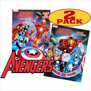 Marvel Mighty Avengers Coloring and Activity Book Set (2 Books ~ 96 pgs each) - Find unique gifts for superhero fans, the avengers, DC, marvel fans all super villians and super heroes gift ideas, games collectibles and gadgets at Gifteee Cool gifts, Unique Gifts for comic book fans