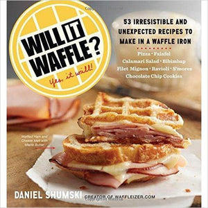 Will It Waffle?: 53 Irresistible and Unexpected Recipes to Make in a Waffle Iron-book - www.Gifteee.com - Cool Gifts \ Unique Gifts - The Best Gifts for Men, Women and Kids of All Ages