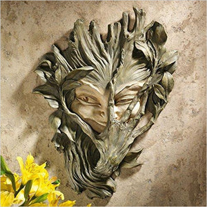 Bashful Wood Sprite Tree Face Mystic Decor