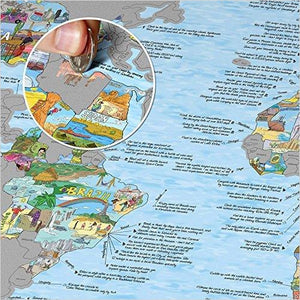 Bucket List World Map - Scratch Edition.-Office Product - www.Gifteee.com - Cool Gifts \ Unique Gifts - The Best Gifts for Men, Women and Kids of All Ages