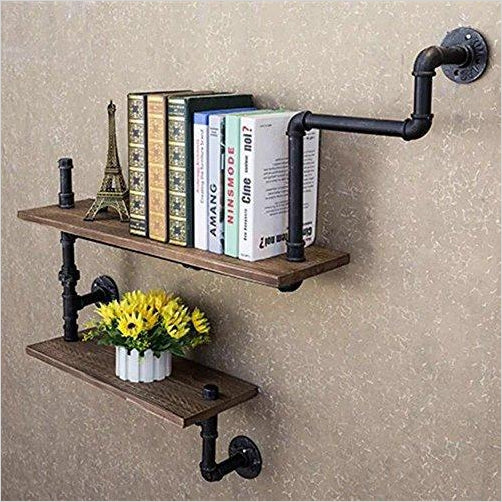 Industrial Pipes Urban bookshelf-Furniture - www.Gifteee.com - Cool Gifts \ Unique Gifts - The Best Gifts for Men, Women and Kids of All Ages