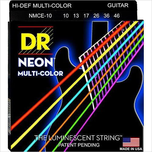 NEON Guitar Strings - Find unique for sound lovers, for music fans, for musicians, composers and everybody that love unique sound related gifts at Gifteee Cool gifts, Unique Gifts for sound and music
