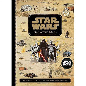 Star Wars Galactic Maps: An Illustrated Atlas of the Star Wars Universe - Find unique gifts for Star Wars fans, new star wars games and Star wars LEGO sets, star wars collectibles, star wars gadgets and kitchen accessories at Gifteee Cool gifts, Unique Gifts for Star Wars fans