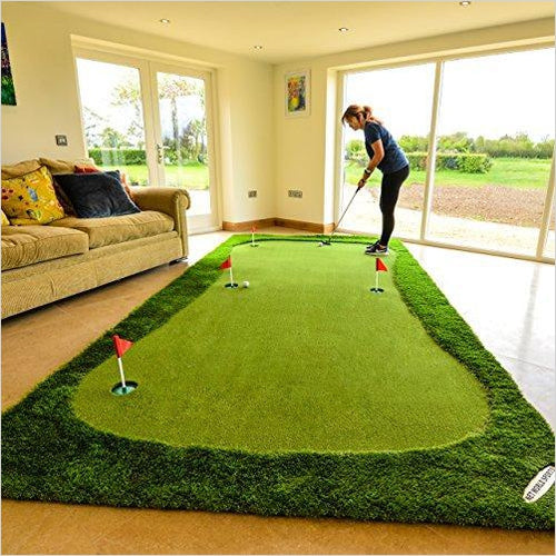 Giant Putting Mat-Sports - www.Gifteee.com - Cool Gifts \ Unique Gifts - The Best Gifts for Men, Women and Kids of All Ages