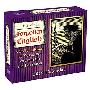 Forgotten English 2019 Daily Desk Boxed Calendar-Office Product - www.Gifteee.com - Cool Gifts \ Unique Gifts - The Best Gifts for Men, Women and Kids of All Ages