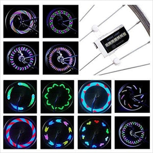 Waterproof LED Wheel Bike Spoke Lights-Sports - www.Gifteee.com - Cool Gifts \ Unique Gifts - The Best Gifts for Men, Women and Kids of All Ages