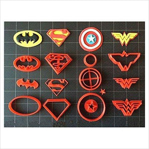 Super Hero Cookie Cutter-Kitchen - www.Gifteee.com - Cool Gifts \ Unique Gifts - The Best Gifts for Men, Women and Kids of All Ages