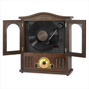 Victrola Wood Wall Mount Turntable with CD and Bluetooth-Receiver or Amplifier - www.Gifteee.com - Cool Gifts \ Unique Gifts - The Best Gifts for Men, Women and Kids of All Ages