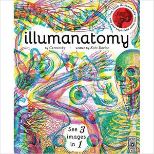 Illumanatomy: See inside the human body with your magic viewing lens - Find special books, flip books, pop up books, mysterious books, unique map books, unusual creative books at Gifteee unique books for kids and adults