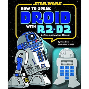 How to Speak Droid with R2-D2: A Communication Manual (Star Wars) - Find unique gifts for Star Wars fans, new star wars games and Star wars LEGO sets, star wars collectibles, star wars gadgets and kitchen accessories at Gifteee Cool gifts, Unique Gifts for Star Wars fans