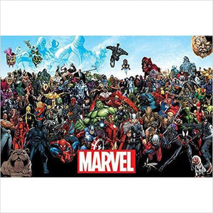 Marvel Comics Universe Poster - ALL Marvel Characters-Home - www.Gifteee.com - Cool Gifts \ Unique Gifts - The Best Gifts for Men, Women and Kids of All Ages