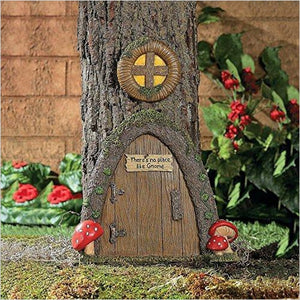 Garden Gnome Home Door in a Tree-Lawn & Patio - www.Gifteee.com - Cool Gifts \ Unique Gifts - The Best Gifts for Men, Women and Kids of All Ages