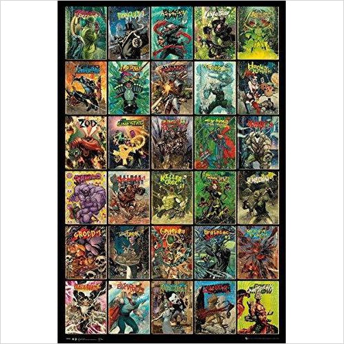 Forever Evil - 30 Villains Compilation Poster - Find unique gifts for superhero fans, the avengers, DC, marvel fans all super villians and super heroes gift ideas, games collectibles and gadgets at Gifteee Cool gifts, Unique Gifts for comic book fans