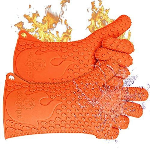 Heat Resistant Silicone Gloves-Lawn & Patio - www.Gifteee.com - Cool Gifts \ Unique Gifts - The Best Gifts for Men, Women and Kids of All Ages