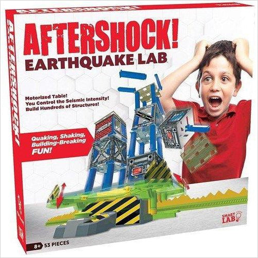 Aftershock Earthquake Lab Set - Find unique STEM gifts find science kits, educational games, environmental gifts and toys for boys and girls at Gifteee Cool gifts, Unique Gifts for science lovers