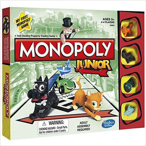 Monopoly Junior Board Game-Toy - www.Gifteee.com - Cool Gifts \ Unique Gifts - The Best Gifts for Men, Women and Kids of All Ages