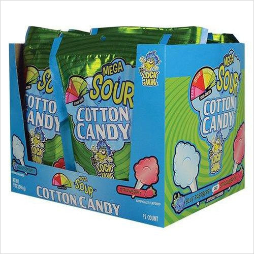 Mega Sour Cotton Candy - Find scary gifts for Halloween, disgusting gifts for horror, weird gifts for oddity lovers and some firefighting special effects lovers at Gifteee Cool gifts, Unique Gifts for Halloween