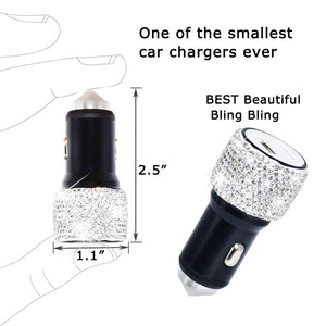 Bling Bling USB Car Charger-Speakers - www.Gifteee.com - Cool Gifts \ Unique Gifts - The Best Gifts for Men, Women and Kids of All Ages