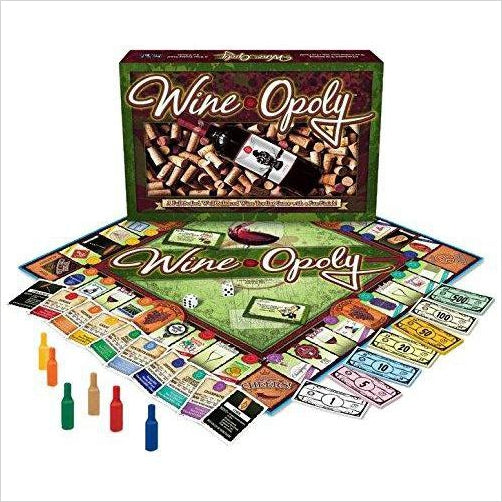 Wine-Opoly Monopoly Board Game - Find unique gifts for mom, gifts for your girlfriend (gf), gifts for your wife or partner, gifts for your mother at Gifteee Unique Gifts, Special gifts for women