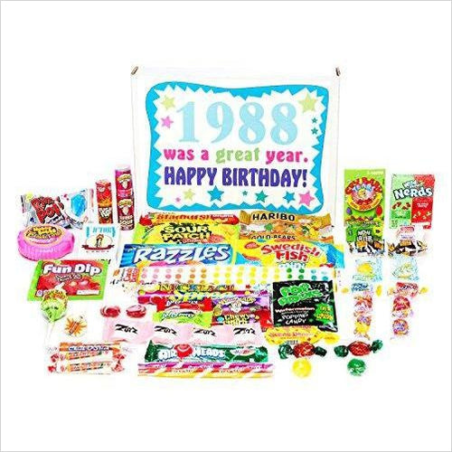Nostalgic Candy from Childhood (80's) for a 30 Year Old Man or Woman - Gifteee. Find cool & unique gifts for men, women and kids