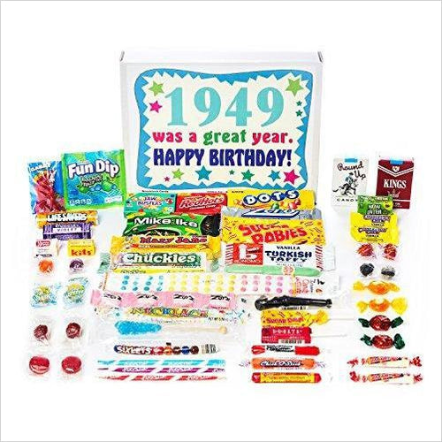 Nostalgic Candy from Childhood (40's 50's) for a 70 Year Old Man or Woman - Gifteee. Find cool & unique gifts for men, women and kids