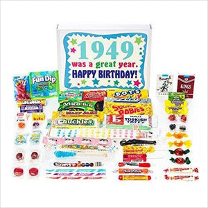 Nostalgic Candy from Childhood (40's 50's) for a 70 Year Old Man or Woman-Grocery - www.Gifteee.com - Cool Gifts \ Unique Gifts - The Best Gifts for Men, Women and Kids of All Ages