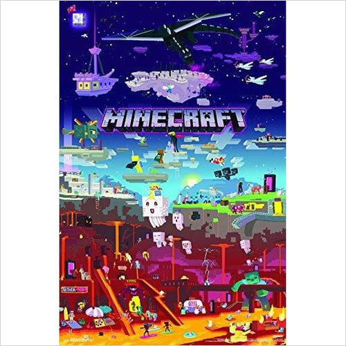 Minecraft World Poster-Home - www.Gifteee.com - Cool Gifts \ Unique Gifts - The Best Gifts for Men, Women and Kids of All Ages