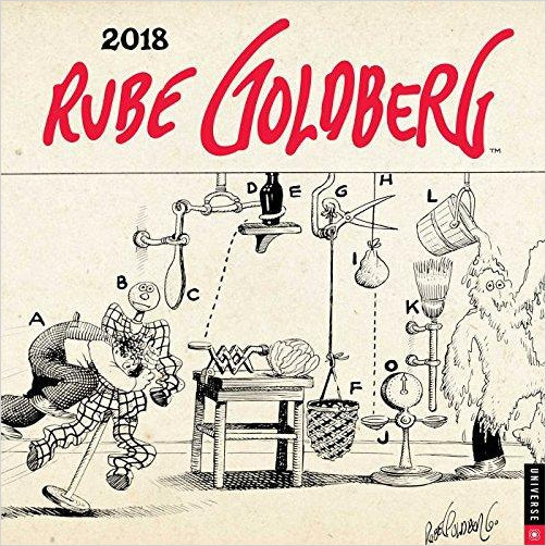 Rube Goldberg 2018 Wall Calendar - Find unique decor gifts for the office and workplace, get cool gadgets for your office desk and cubicle at Gifteee Cool gifts, Unique decor Gifts for the office and workplace