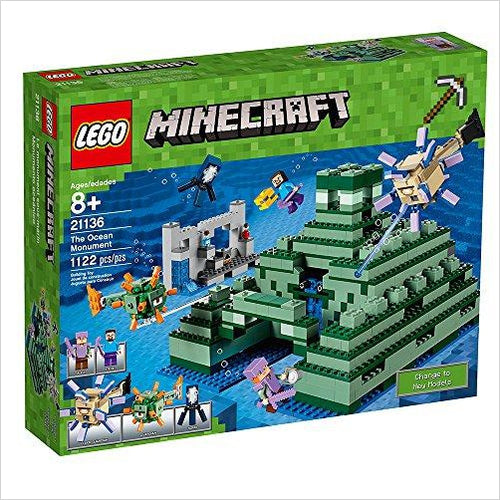 LEGO Minecraft The Ocean Monument 21136 Building Kit (1122 Piece)-Toy - www.Gifteee.com - Cool Gifts \ Unique Gifts - The Best Gifts for Men, Women and Kids of All Ages