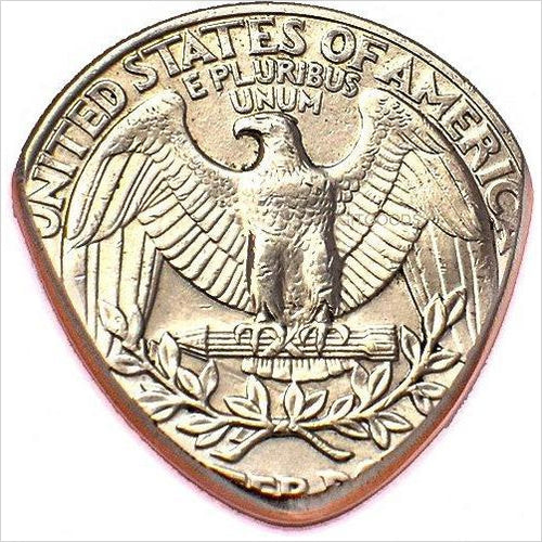 Quarter Guitar Pick Handmade In America From Real USA Coin-Musical Instruments - www.Gifteee.com - Cool Gifts \ Unique Gifts - The Best Gifts for Men, Women and Kids of All Ages