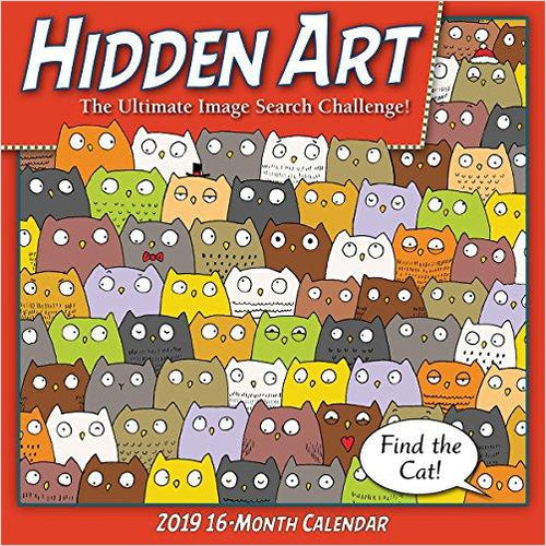 Hidden Art 2019 Wall Calendar-Book - www.Gifteee.com - Cool Gifts \ Unique Gifts - The Best Gifts for Men, Women and Kids of All Ages