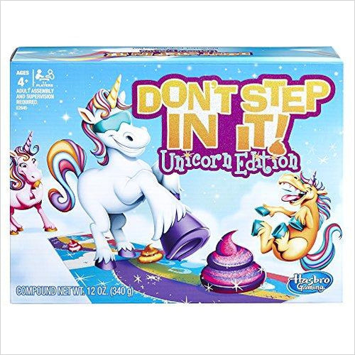 Hasbro Gaming Don't Step In It Game, Unicorn Edition-Toy - www.Gifteee.com - Cool Gifts \ Unique Gifts - The Best Gifts for Men, Women and Kids of All Ages