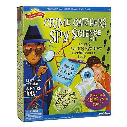 Crime Catchers Spy Science Kit-Toy - www.Gifteee.com - Cool Gifts \ Unique Gifts - The Best Gifts for Men, Women and Kids of All Ages
