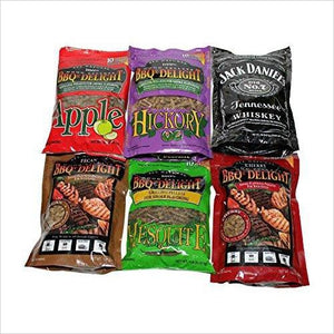 Wood Smoking Pellets - Variety Pack-bbq wood - www.Gifteee.com - Cool Gifts \ Unique Gifts - The Best Gifts for Men, Women and Kids of All Ages
