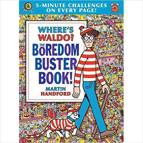 Where's Waldo? The Boredom Buster Book: 5-Minute Challenges - Find unique gifts for a newborn baby and cool gifts for toddlers ages 0-4 year old, gifts for your kids birthday or Christmas, special baby shower gifts and age reveal gifts at Gifteee Unique Gifts, Cool gifts for babies and toddlers