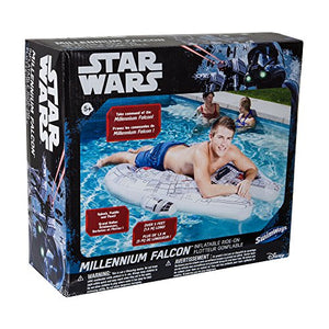 Star Wars Millenium Falcon Ride-On Float - Find unique gifts for Star Wars fans, new star wars games and Star wars LEGO sets, star wars collectibles, star wars gadgets and kitchen accessories at Gifteee Cool gifts, Unique Gifts for Star Wars fans
