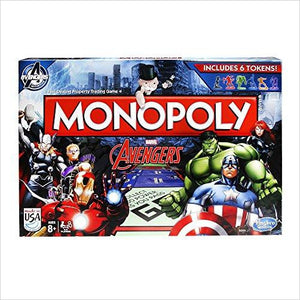 Monopoly Avengers Game - Find unique gifts for superhero fans, the avengers, DC, marvel fans all super villians and super heroes gift ideas, games collectibles and gadgets at Gifteee Cool gifts, Unique Gifts for comic book fans