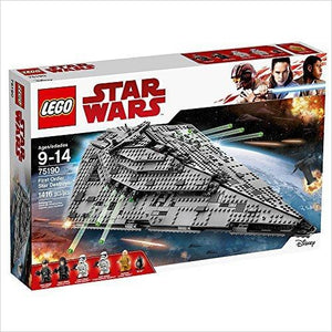 LEGO Star Wars VIII First Order Star Destroyer 75190 Building Kit (1416 Piece) - Find unique gifts for Star Wars fans, new star wars games and Star wars LEGO sets, star wars collectibles, star wars gadgets and kitchen accessories at Gifteee Cool gifts, Unique Gifts for Star Wars fans