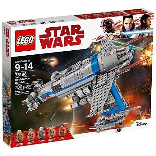 LEGO Star Wars Episode VIII Resistance Bomber 75188 Building Kit (780 Piece) - Find unique gifts for Star Wars fans, new star wars games and Star wars LEGO sets, star wars collectibles, star wars gadgets and kitchen accessories at Gifteee Cool gifts, Unique Gifts for Star Wars fans
