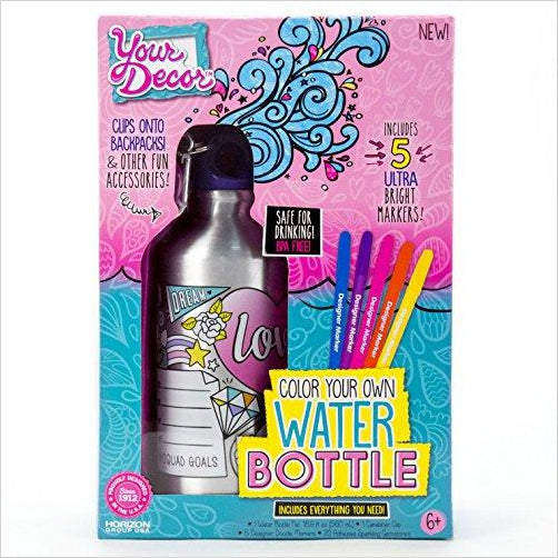 Your Décor Water Bottle - Find unique arts and crafts gifts for creative people who love a new hobby or expand a current hobby, art accessories, craft kits and models at Gifteee Cool gifts, Unique Gifts for arts and crafts lovers