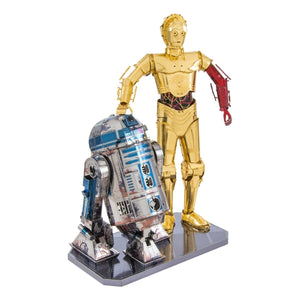 Star Wars R2-D2 and C-3PO 3D Metal Model Kit Box Set - Find unique arts and crafts gifts for creative people who love a new hobby or expand a current hobby, art accessories, craft kits and models at Gifteee Cool gifts, Unique Gifts for arts and crafts lovers