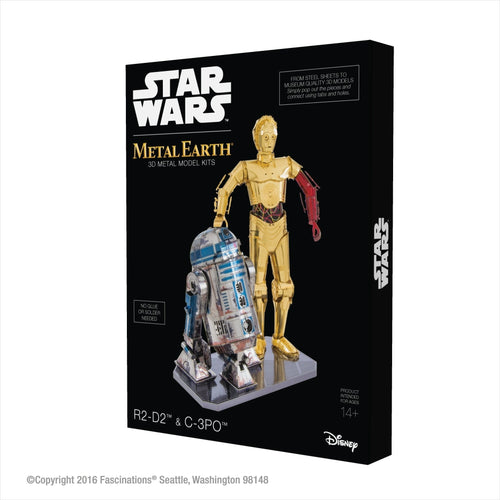 Star Wars R2-D2 and C-3PO 3D Metal Model Kit Box Set - Gifteee. Find cool & unique gifts for men, women and kids