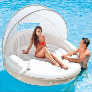 Luxury Lounge with Canopy - Inflatable-island - www.Gifteee.com - Cool Gifts \ Unique Gifts - The Best Gifts for Men, Women and Kids of All Ages