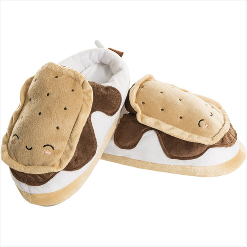 S'mores USB Heated Slippers - Find special gifts for girls and tweens age 5-11 year old, gifts for your daughter, gifts for your kids birthday or Christmas, gifts for a young princess, gifts for you children classmates and friends at Gifteee Unique Gifts, Cool gifts for girls