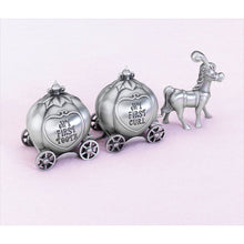 Load image into Gallery viewer, Fairytale Coach Keepsake Pewter Tooth and Curl Box - Find unique gifts for a newborn baby and cool gifts for toddlers ages 0-4 year old, gifts for your kids birthday or Christmas, special baby shower gifts and age reveal gifts at Gifteee Unique Gifts, Cool gifts for babies and toddlers