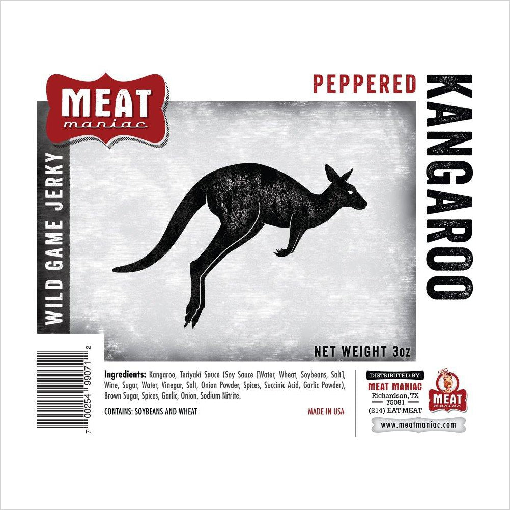 Peppered Kangaroo Jerky-Grocery - www.Gifteee.com - Cool Gifts \ Unique Gifts - The Best Gifts for Men, Women and Kids of All Ages