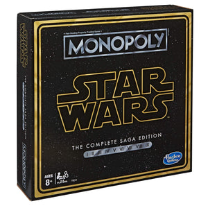 Monopoly: Star Wars Complete Saga Edition Board Game - Find unique gifts for Star Wars fans, new star wars games and Star wars LEGO sets, star wars collectibles, star wars gadgets and kitchen accessories at Gifteee Cool gifts, Unique Gifts for Star Wars fans
