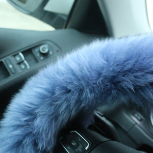 Winter Warm Faux Wool Steering Wheel Cover with Handbrake Cover & Gear Shift Cover - Find unique gifts for a car lover, cool decor for you car, car gadgets and car bling accessories at Gifteee Cool gifts, Unique Gifts for car lovers